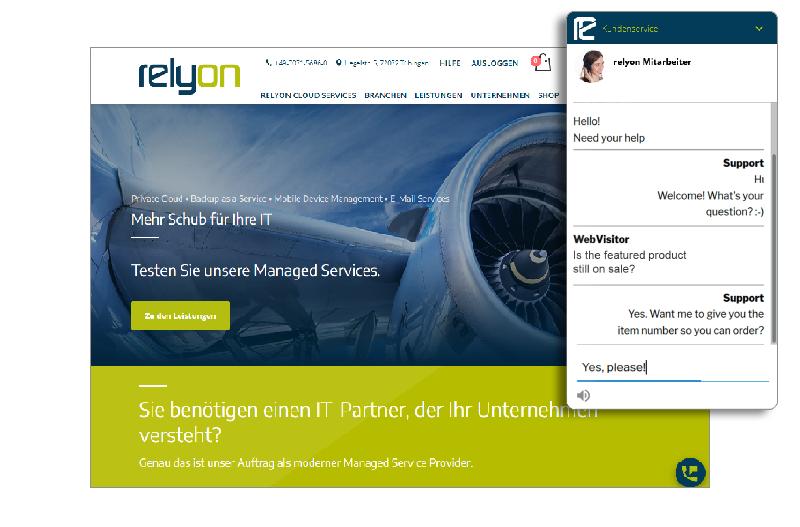 relyon 3CX Live Chat & Talk