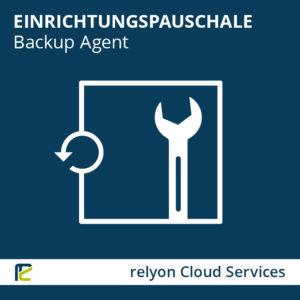 relyon Cloud Services, Einrichtungspauschale Backup Agent