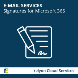 relyon Cloud Services, E-Mail Services, Signatures for Microsoft 365