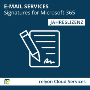 relyon Cloud Services, E-Mail Services, Signatures for Microsoft 365, Jahreslizenz