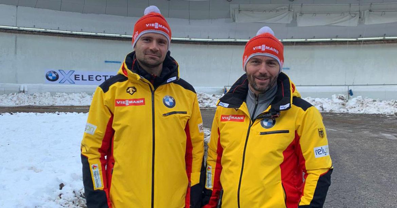 BSD-Trainer Robert Eschrich und Jan Eichhorn